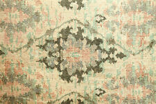Antique Floral Scrollwork in Mauve and Brown Woven Upholstery Drapery Fabric