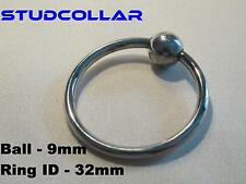 STUDCOLLAR-GLANS-RING - 32mm ID Stainless Steel Bondage Erection Impotence Aid
