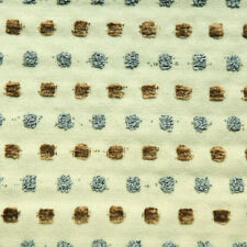 """Plush Blue Brown Dot Striped Tan Drapery Upholstery Fabric By The Yard 54""""W"""