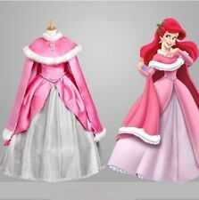 Halloween Adult Princess Mermaid princess Ariel Pink Dress Cosplay Made Costume
