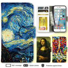 iPhone 7 7 Plus 6s 6 SE 5 Case Art Painting Print Wallet Leather Cover For Apple
