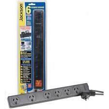 NEW JACKSON 6 way Powerboard w/ surge & overload protection.1m power cord