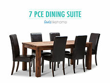 Phillipe Solid Acacia Oak Timber 180cm Dining Table & Suite Option