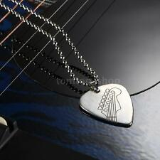 Stainless Steel Guitar Pick Necklace with 50cm/20in Ball Chain New D4T0