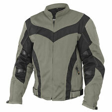 XELEMENT INVASION MENS GRAY/BLACK MESH ARMORED MOTORCYCLE JACKET CF-6019-55