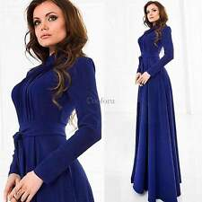 Ladies Elegant Long Sleeve Chiffon Formal Prom Cocktail Evening Party Maxi Dress