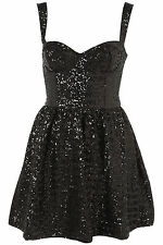 TOPSHOP Sequin strappy Prom Dress 6/8/10/12/14/16