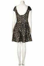 TOPSHOP GOLD CLUSTER SEQUIN PROM DRESS BY DRESS UP SIZE 8/10/