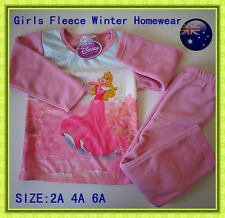 Girls Disney Princess Polar Fleece Winter PYJAMAS Set Sleepwear Toddler Homewear