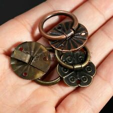 12Pcs Antique Brass Jewelry Box Cabinet Drawer Drop Ring Pull Handle Useful Tool