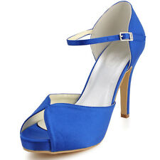 EP2066-IP More Colors Available AU4-11 Peep Toe High Heel Blue Bridal Sandals