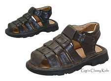 New Boys Kids Youth Fisherman Black Brown Sandals Closed Toe Summer Spring