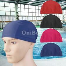 Swimming Hat Swim Bathing Cap Ladies Mens Unisex Dark blue/ Rose Red/ Black/ Red