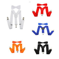 Hot Suspender and Bow Tie Set for Baby Toddler Kids Boys Girls Children
