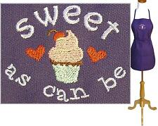 Cupcake Apron Sweet As Can Be Monogram Bakery Kitchen Baker Bake Chef Custom NWT
