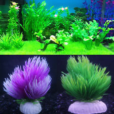 Artificial Water Grass Weighted-base Aqua-plant Fish Tank Aquarium Decor