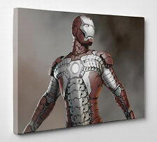 Iron Man Photo Canvas Print Wall Art Large A1 A2 A3 A4 New Ready to hang