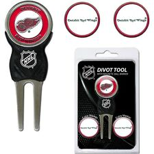 NHL Detroit Red Wings Golf Divot Tool and 3 Ball Markers Enamel Team Logo