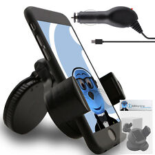 Suction In Car Holder And Micro USB Charger For Samsung Gravity Smart