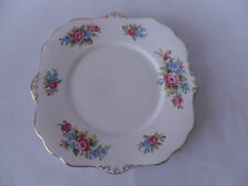 Royal Stafford Bone China 23.5cm Cake Plate with PInk and Blue Flowers