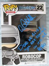 PETER WELLER SIGNED ROBOCOP FUNKO POP VINYL # 22 DCCOA (INSCRIPTION) EXACT PROOF