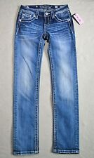 NWT GIRLS YOUTH MISS ME SKINNY BLING POCKET JEANS PANTS SIZE 10 JK8417S2