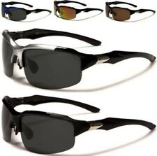 NEW MENS LADIES SUNGLASSES BLACK SPORT POLARIZED LARGE WRAP DRIVING FISHING LENS