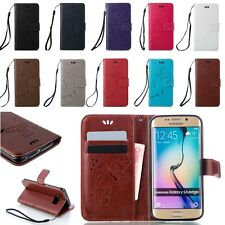 Flip Stand Flower Buuerfly Printing Leather Wallet Case For Samsung Galaxy Case