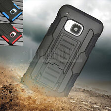 Rugged Armor Holster Stand Cover Hybrid Hard Case Belt Clip For HTC One M9 2015