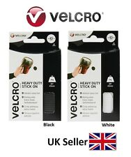 VELCRO ® Strong Heavy Duty Self Adhesive Stick on Large BLACK / WHITE Coins 45mm