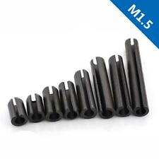 M1.5 Black Alloy Steel Slotted Spring Pins,Heavy Type Dowel Pin Elastic Pin