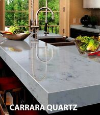 White Marble carrara & White Carrara quartz ( white with gery) Worktop & sample
