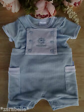 Baby Boy 2 Pcs Embroidered Nautical Set T-shirt Knitted Shorts Dungaree NB-3-6 m