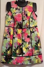 Calvin Klein Cotton Blend Multi-Color Floral CX5G14L9 Plus Womens Summer Dress