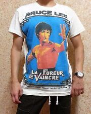 NEW MENS COOL FRENCH BRUCE LEE T-SHIRT, Retro Hippie Style, M, L, XL