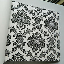 Vintage Luxury Damask Textured Embossed Wallpaper Roll TV Background Wall Paper