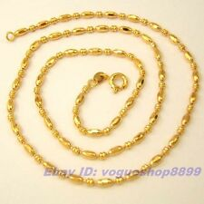 """17.7""""2.5mm5g REAL POSH 18K YELLOW GOLD GP BEAD NECKLACE CHAIN,1-3pcs Wholesale"""