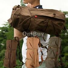 Canvas Vintage Men's Rucksack Shoulder Backpack Bag Hiking Travel Rucksack Bag