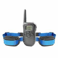 Stubborn Dog Collar LCD Safe Training Remote Control Anti-Bark 100 Levels EE#A