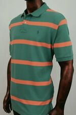 Mens POLO Ralph Lauren Mesh Green And Orange Stripe Shirt ~ NWT