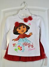NWT GIRL'S NICKELODEON DORA SHIRT WITH TOO TOO SKIRT 2 PIECE SET SIZE 6