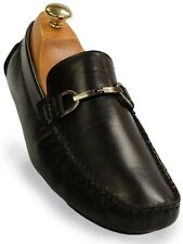 Kenneth Cole Reaction Mens Black Leather Slip On Loafer Dress Casual Trendy Shoe