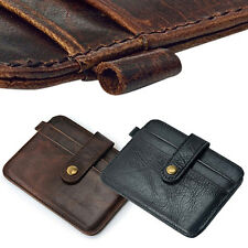Men Faux Leather Slim Money Clip Wallet ID Credit Card Holder Case Latest Cool