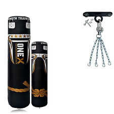 A Boxing 4ft/5ft Filled Heavy Punch Bag Hook Chain Kick Focus Punch Pad