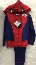 Boys Spiderman Novelty With Hoody Pyjamas Costume Fancy Dress Nighty Kids New
