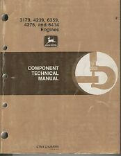 John Deere 3179, 4239, 6359, 4276, and 6414 Component Technical Manual ENGINES