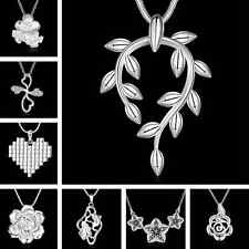 Wholesale Lots Women Fashion Charm Jewelry Chain Pendant Crystal Necklace Lady