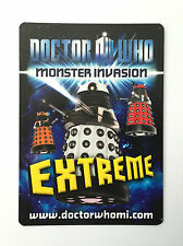 Doctor Who Monster Invasion Extreme Ultra Rare Cards- Choose Single Cards