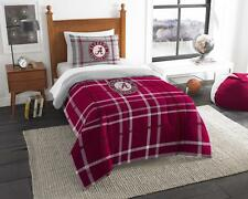NCAA Twin Embroidered Comforter plus 1 Sham Set College