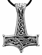 No. 200: Thor's Hammer 925 Silver Pendant Curb Chain Midgard Snake Snake
